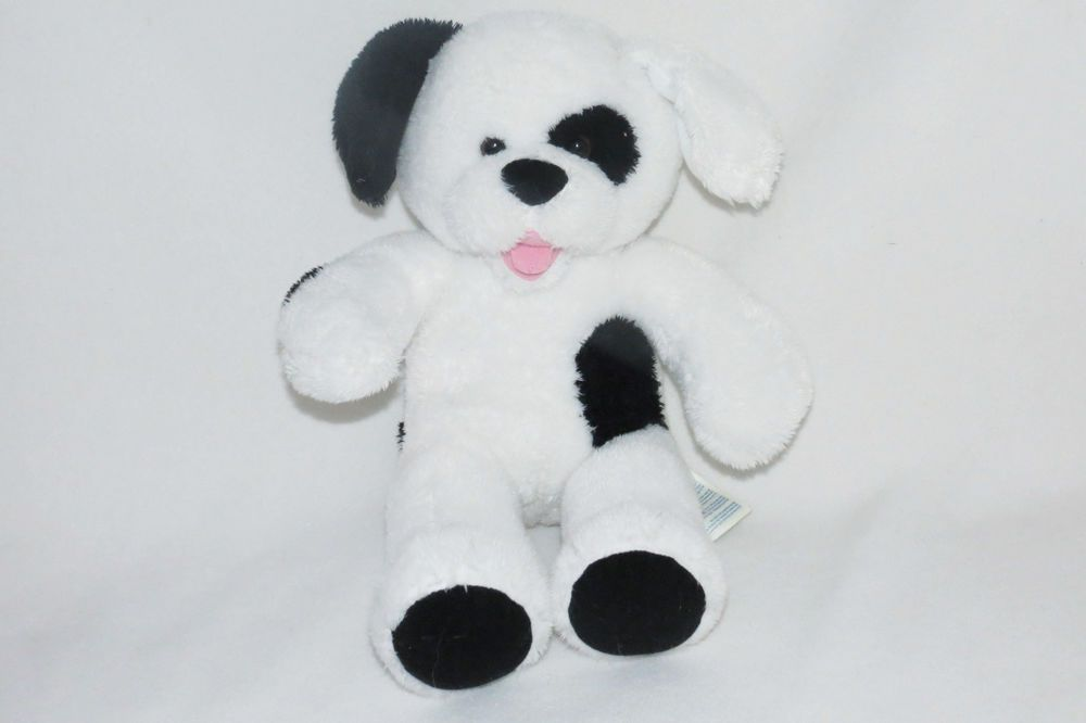 Build A Bear Black White Puppy Dog Spot Dalmatian Plush Stuffed