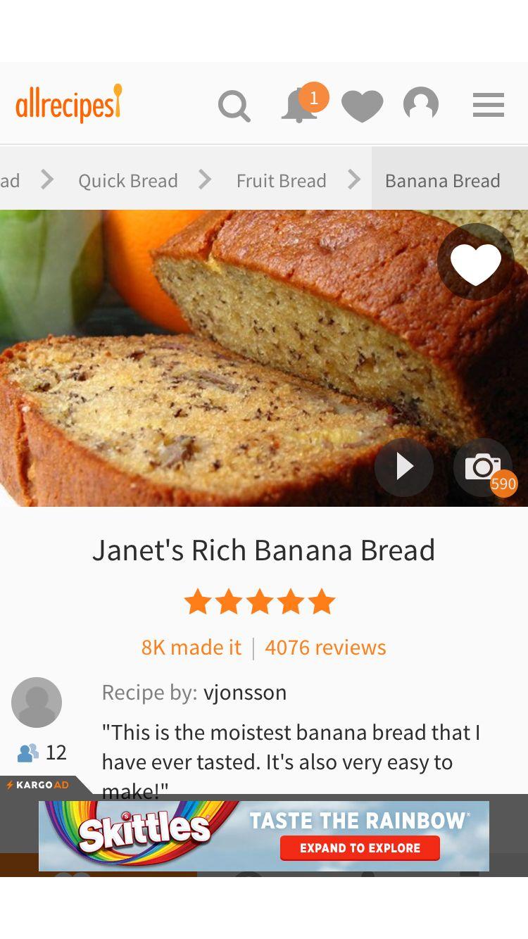 Janet S Rich Banana Bread Recipe Janet S Rich Banana Bread Recipe Rich Banana Bread Recipes