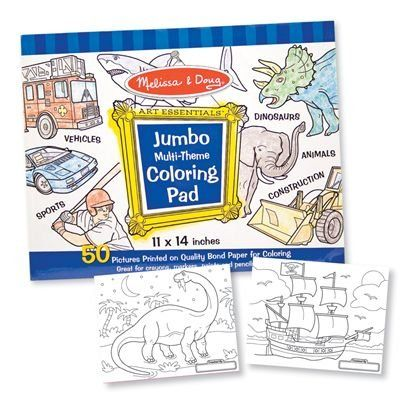Melissa & Doug Jumbo Coloring Pad - Blue $5.75 | Arts ...
