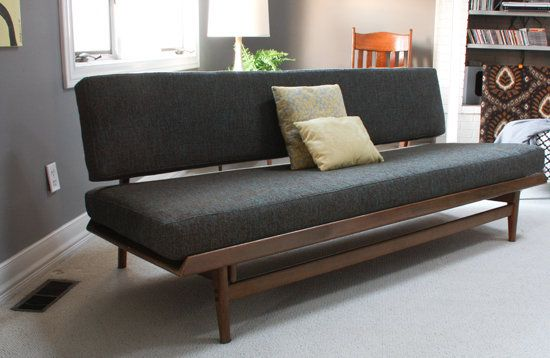 1963 Reupholstered Scandinavian Couch.