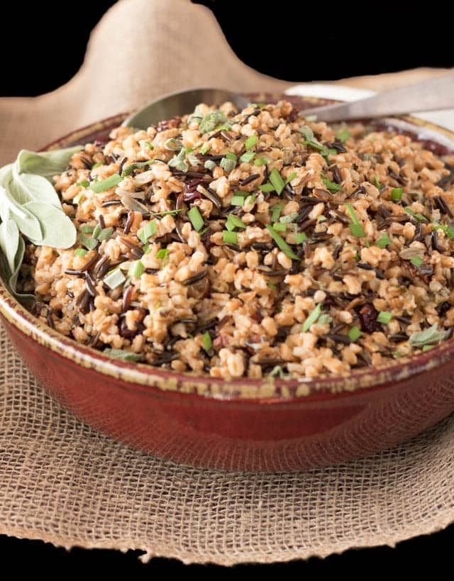 Pressure Cooker brown rice in a bowl #instantpot #pressurecooker #brownrice