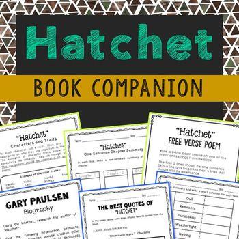 Hatchet Novel Study Unit Activities Independent Project Hatchet Novel Study Novel Study Units Novel Studies