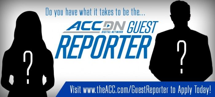 """The ACCDN Opens Entries for """"Guest Reporter Search"""" Opportunity for Students and Alumni to Cover the ACC Football Championship Game."""