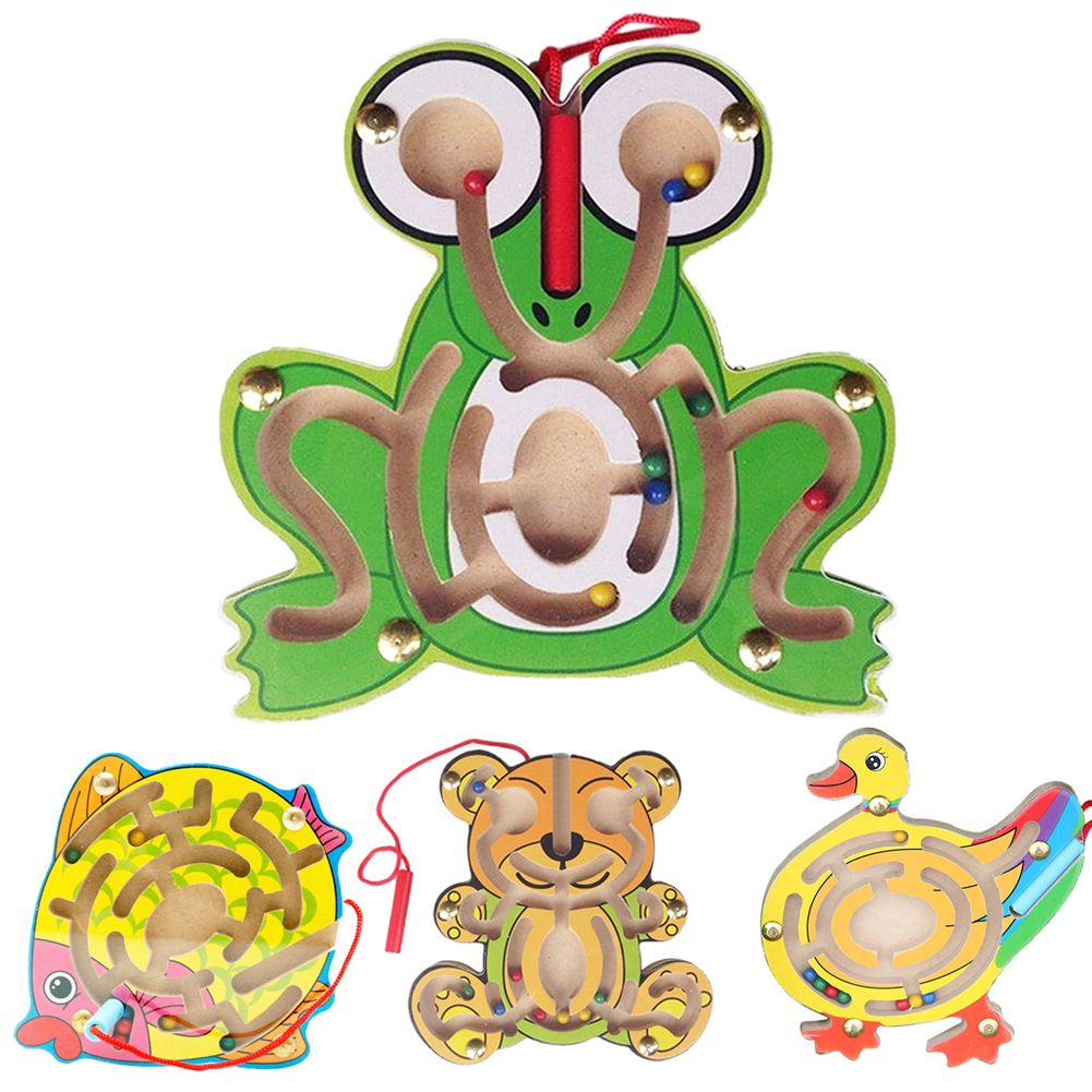 Kids Wooden Animal Puzzle Early Educational Learning Toys