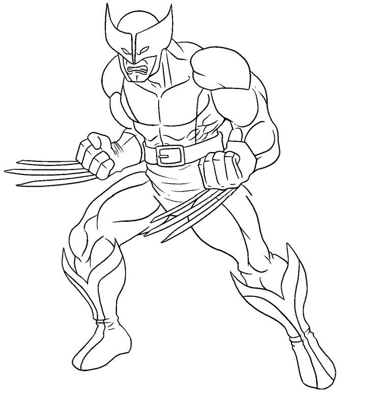 Wolverine Printable Coloring Pages X Men | Super Heroes Coloring ...