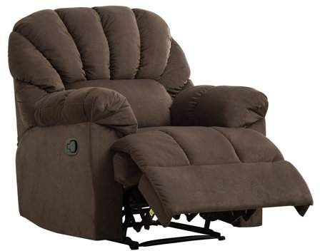 Bonzy Recliner Soft Plush Fabric Cover Manual Stretched