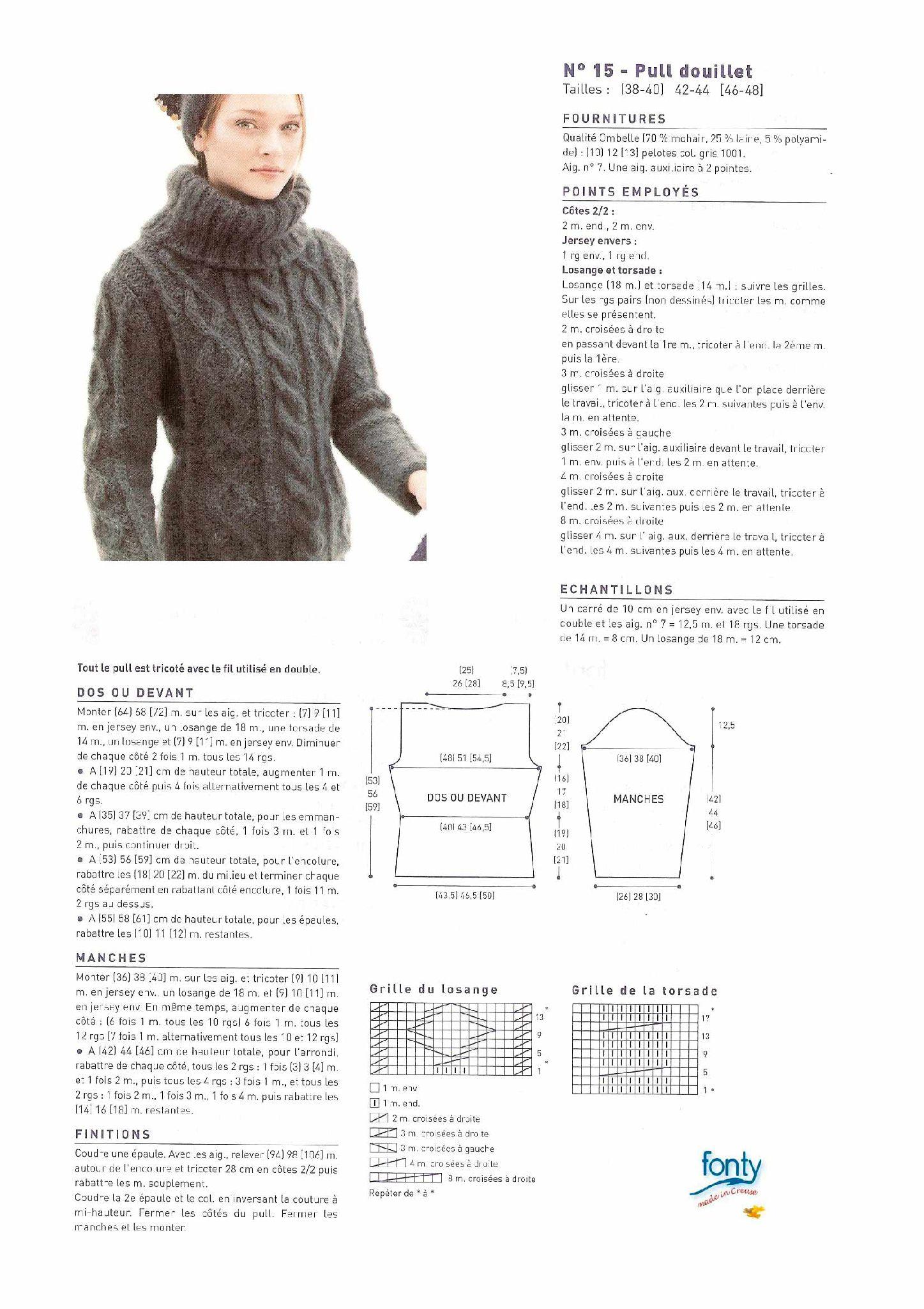 modele tricot mohair femme
