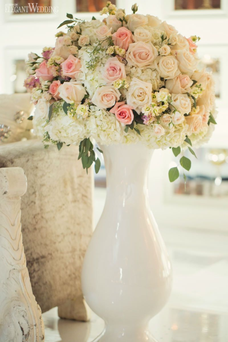 Pink and Gold Wedding Theme | White wedding flowers, Cherry blossom ...