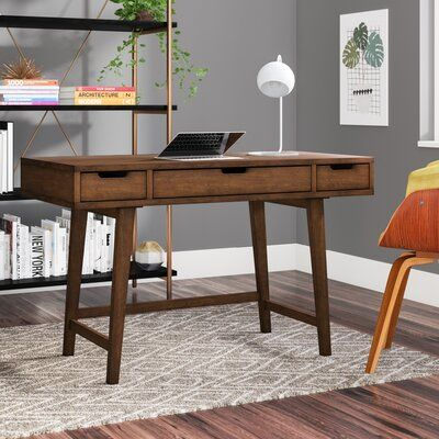 Foundstone Nathan Desk Wood Writing Desk Solid Wood Desk
