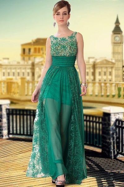 Preciosos Vestidos De Noche Largos Para Jovenes Con Encaje Vestidos De Noche Largos Vestidos De Randa Vestido Encaje Largo