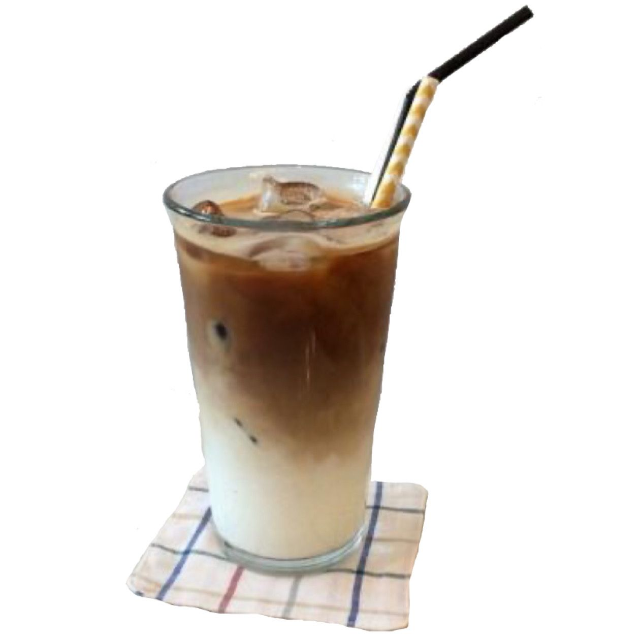 Iced Coffee W Straw Png Cafe Food Homemade Collage Making