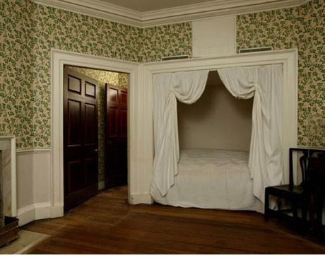 Thomas jeffersons monticello guest bedroom where president james madison and first lady dolly madison slept