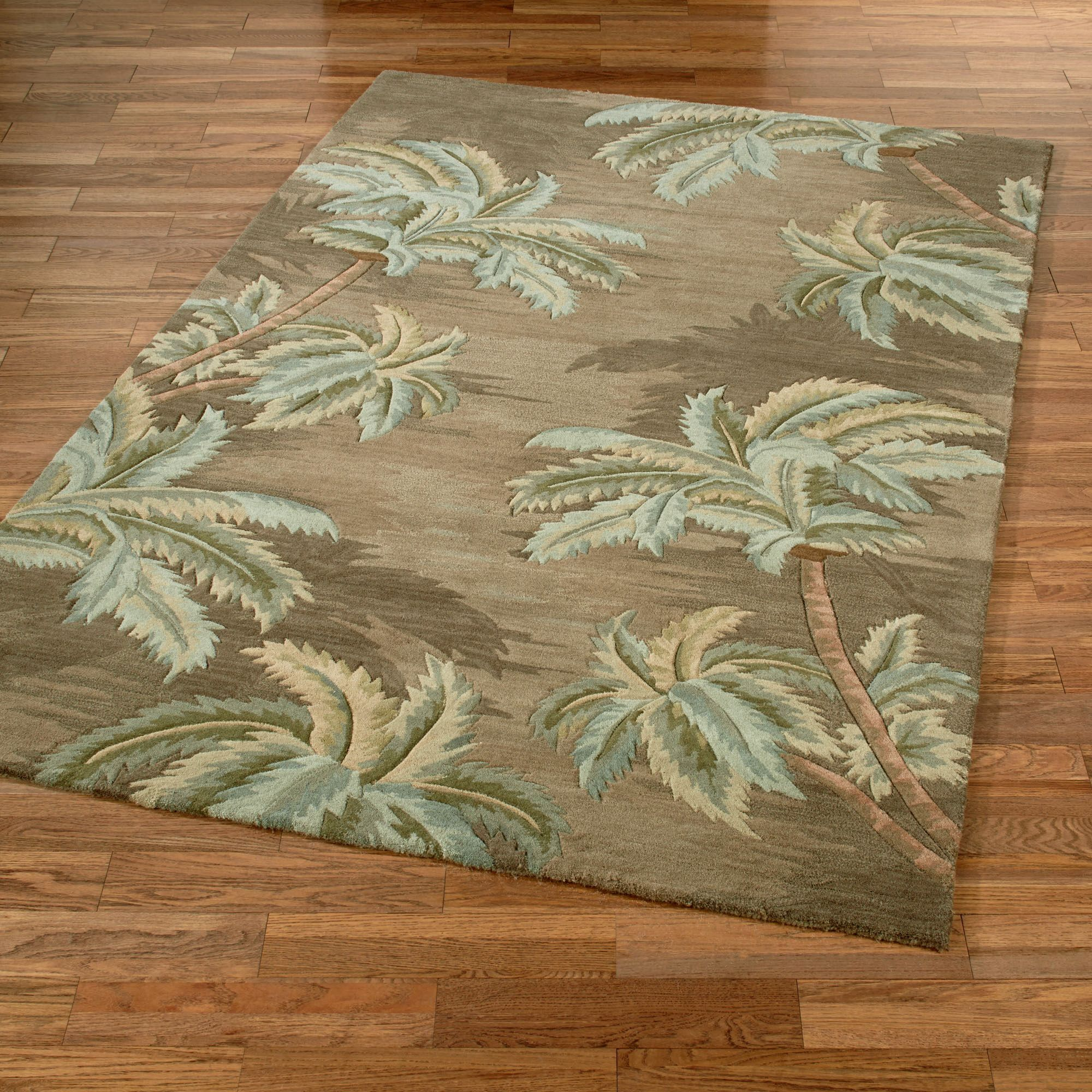A Tropical Retreat Is Just Steps Away With The Lush Palm Trees Rugs Hand Tufted In China From Pure High Density Wool Thick Area Feature