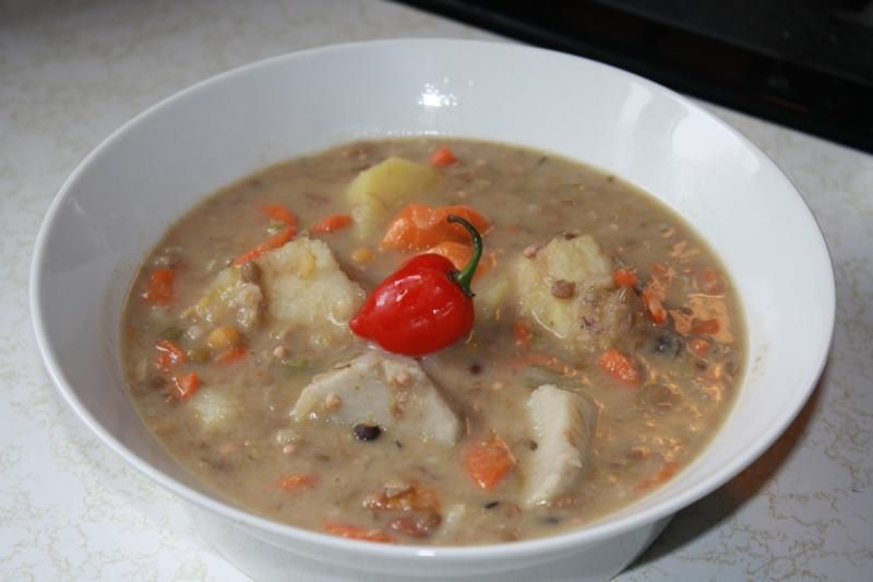 here is a recipe for provision soup that used salted cod