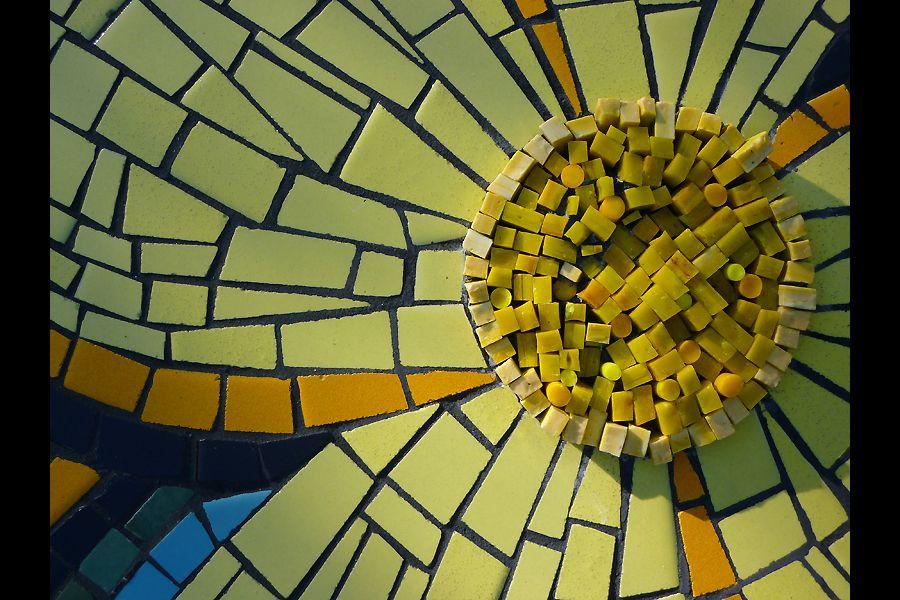 Flower detail....DONOR RECOGNITION   Kim Emerson Mosaics: Public Art ...