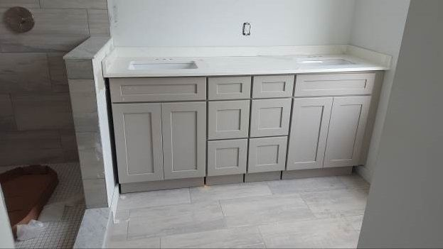Best A New Range Stone Harbor Gray Cabinet Warehouse Grey 400 x 300