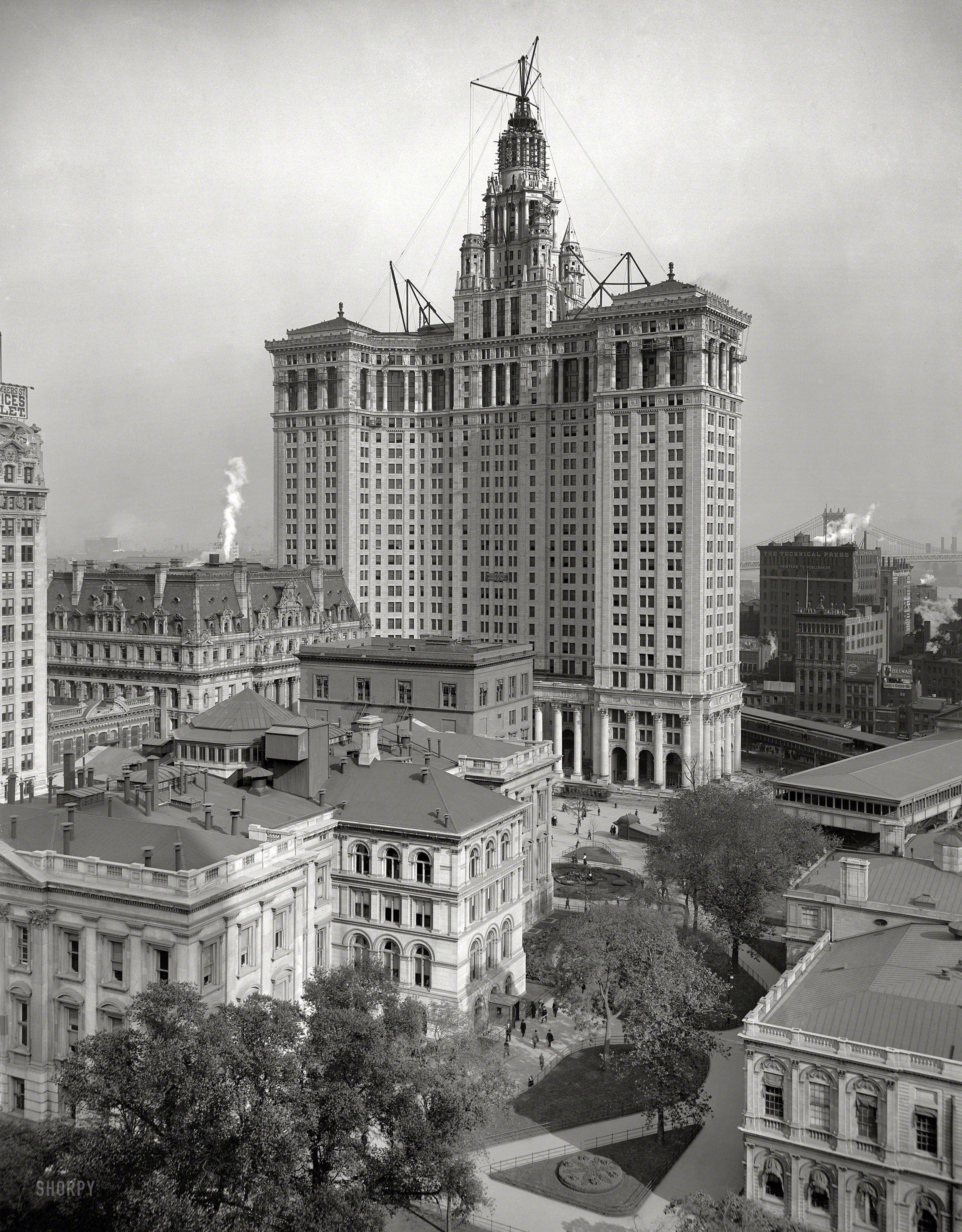 Circa 1913 New Municipal Building New York City The 40 Story