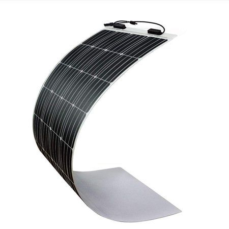 Renogy 160 Watt 12 Volt Extremely Flexible Monocrystalline Solar Panel Ultra Lightweight Ultra Thin Up To 248 Degree Arc For Rv Boats Roofs Uneven Surfac Monocrystalline Solar Panels Flexible Solar Panels Solar Panels