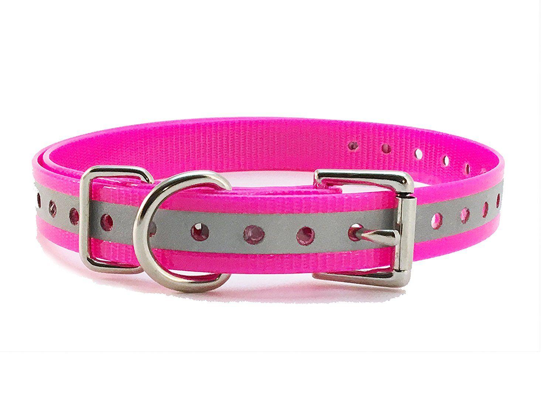 Sparky Petco 1 Roller Buckle High Flex Reflective Pink Waterproof Dog Strap For Garmin Dogtra Petsafe Sportdog E C Dog Training Pads Petco Dog Training Collar