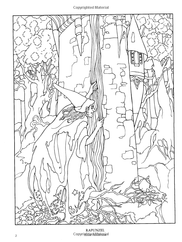 Fairy Tale Coloring Page Images, Stock Photos & Vectors | Shutterstock | 800x600
