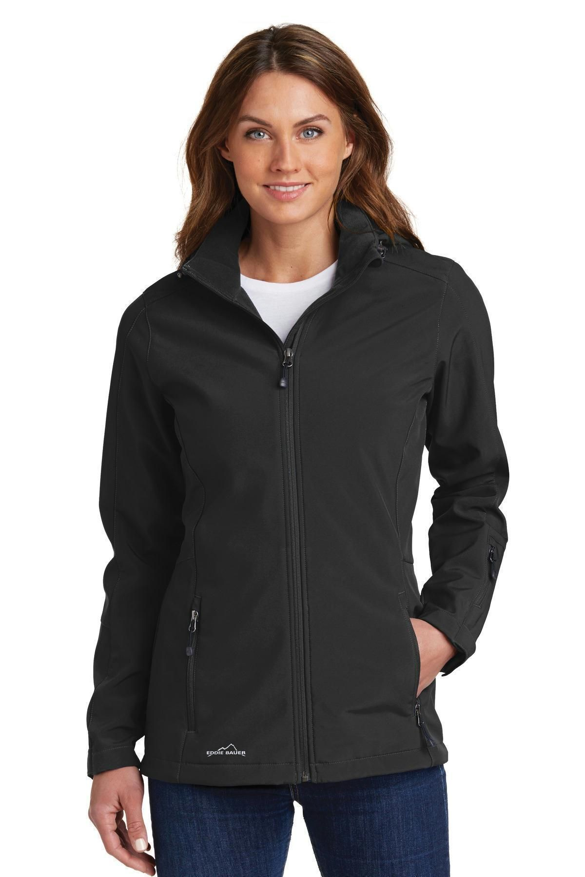 Eddie Bauer Ladies Hooded Soft Shell Parka. EB537 Admiral