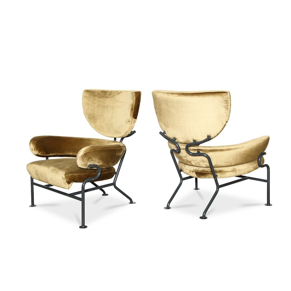 Tre Pezzi Pair Of Early Lounge Chairs By Franco Albini Franca  # Muebles Tumbing