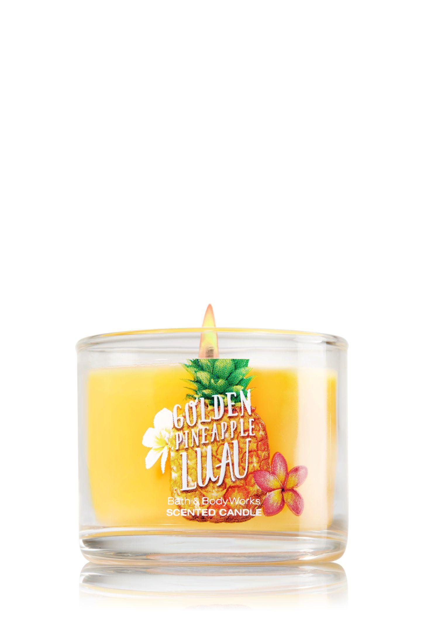 Golden Pineapple Luau Mini Candle Home Fragrance 1037181 Bath