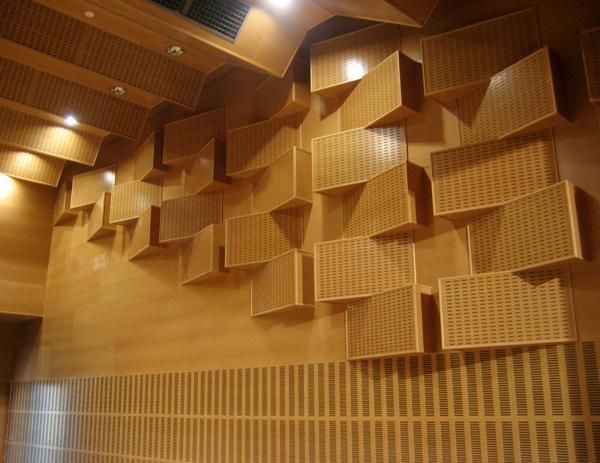 Revestimientos ac sticos fonoabsorbentes de madera para techos y paredes oficina pinterest - Materiales para estucar paredes ...