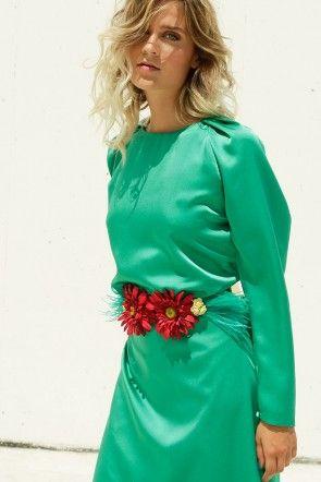 Imagenes de vestidos de fiesta color verde