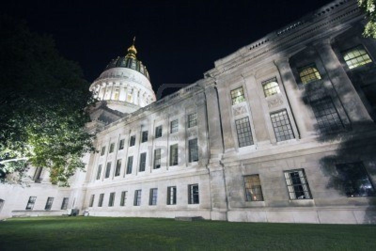 Charleston West Virginia State Capitol Night Time