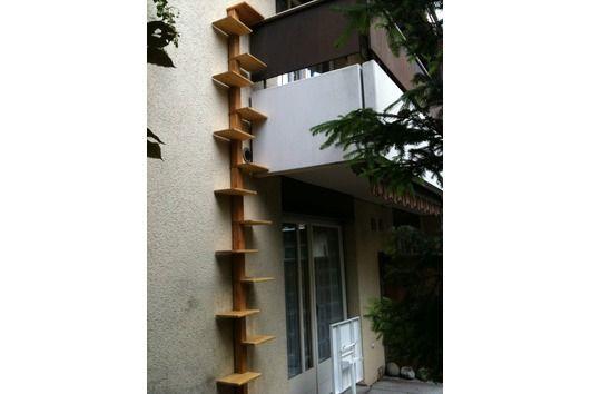 katzenleiter katzentreppe katzenwendeltreppe katzenstiege katzenbaum sr balkong pinterest. Black Bedroom Furniture Sets. Home Design Ideas