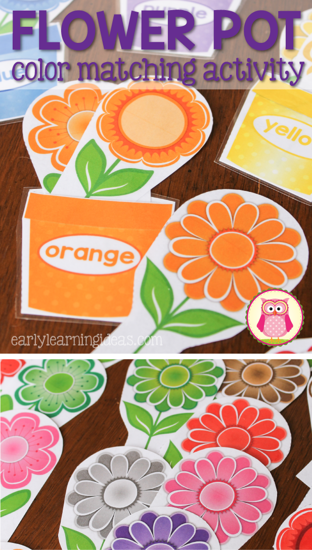 Flower Color Sorting and Math Activities for Preschool and