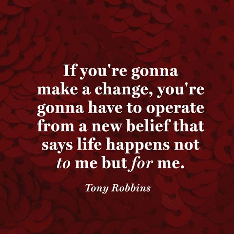 Quote About Making Change - Tony Robbins Quote | Words That