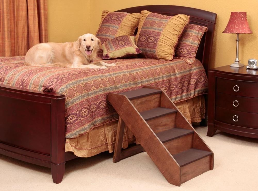 Dog stairs for high beds large dogs pet xlarge wood pet