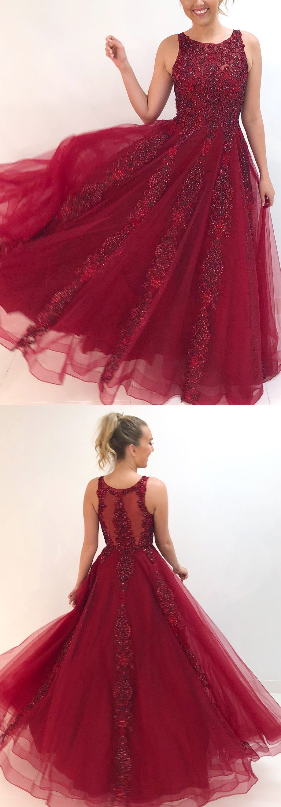 Gorgeous sequins burgundy long formal dress from dreamdressy in