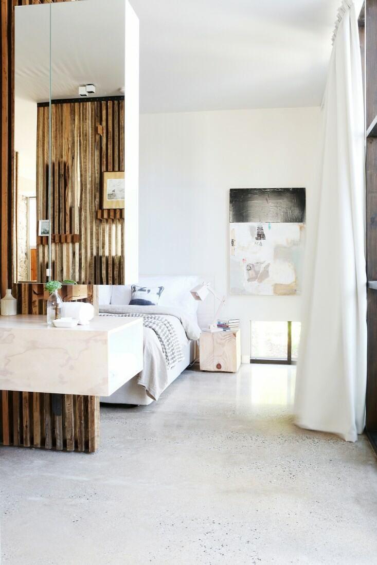 Open plan bedroombathroom apartment inspiration pinterest