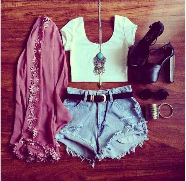 Summer outfits...minus the shoes, super cute casual summer outfit
