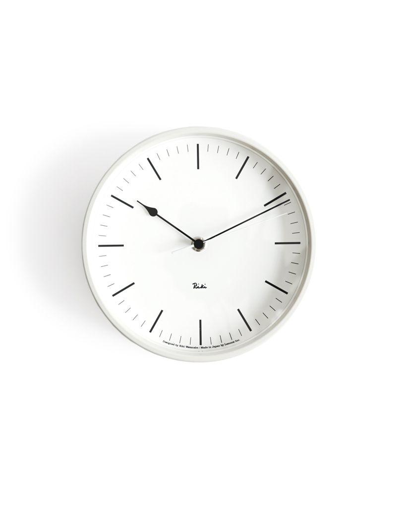 Riki Steel Clock Ivory White Clock Metal Clock White Clocks