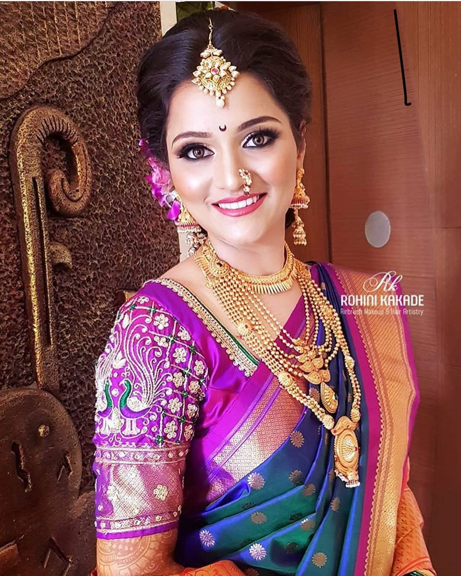 Beautiful Bride Pc Rohinikakade Mua Rohinikakade Bride Supriyakurhade Wed Indian Bridal Fashion Saree Hairstyles Bridal Hairstyle Indian Wedding