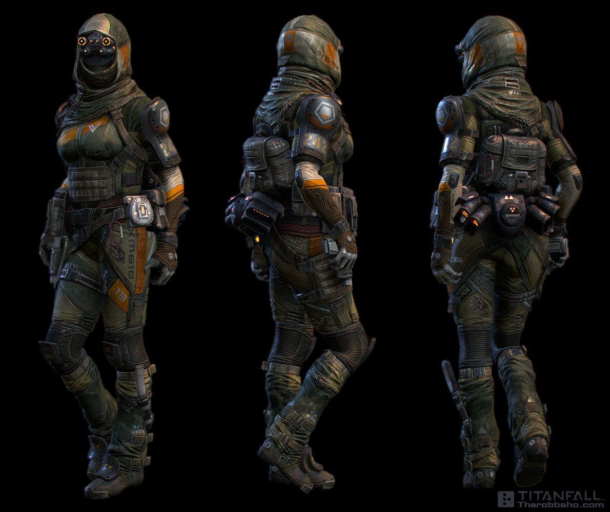 titanfall pilot DMR, robb shoberg on ArtStation at https ...