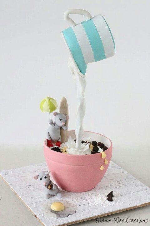 mouses having tea cake