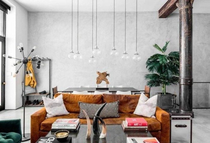 Wohnzimmer Lampe ~ Wohnzimmerlampe industrielle hängelampen haben eigenartigen look