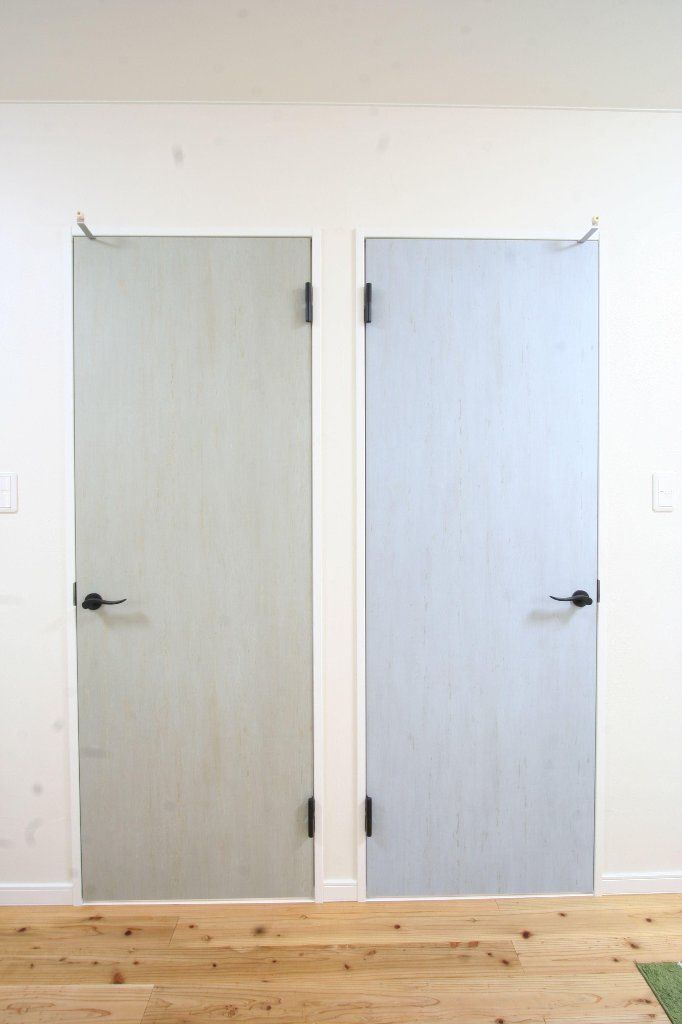 建具 リクシル 無垢床 杉 珪藻土 インテリア 室内建具 ドア 子供部屋 注文住宅 新築 純工房 リビング ナチュラルモダン リクシル 建具 室内ドア