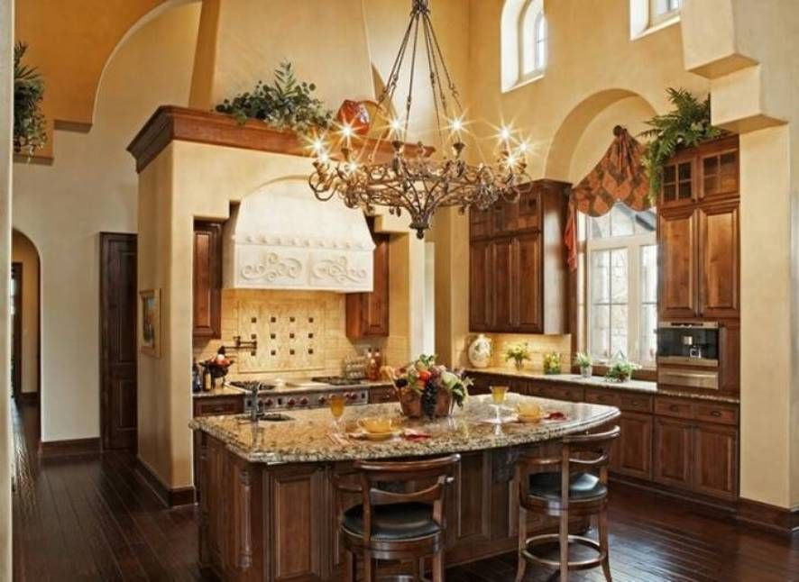 Amazing Chandelier And Island With Plants Above Mantel And Cabinet on over kitchen cabinet decorating ideas, tuscan kitchen accessories, tuscan kitchen design gallery, tuscan kitchen colors, decorating above kitchen cabinet ideas, tuscan decorating above kitchen cabinets,