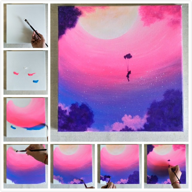 10 Easy Painting Ideas For Home Decor Art For Beginners Simple Acrylic Paintings Acrylic Painting Canvas Canvas Painting Diy