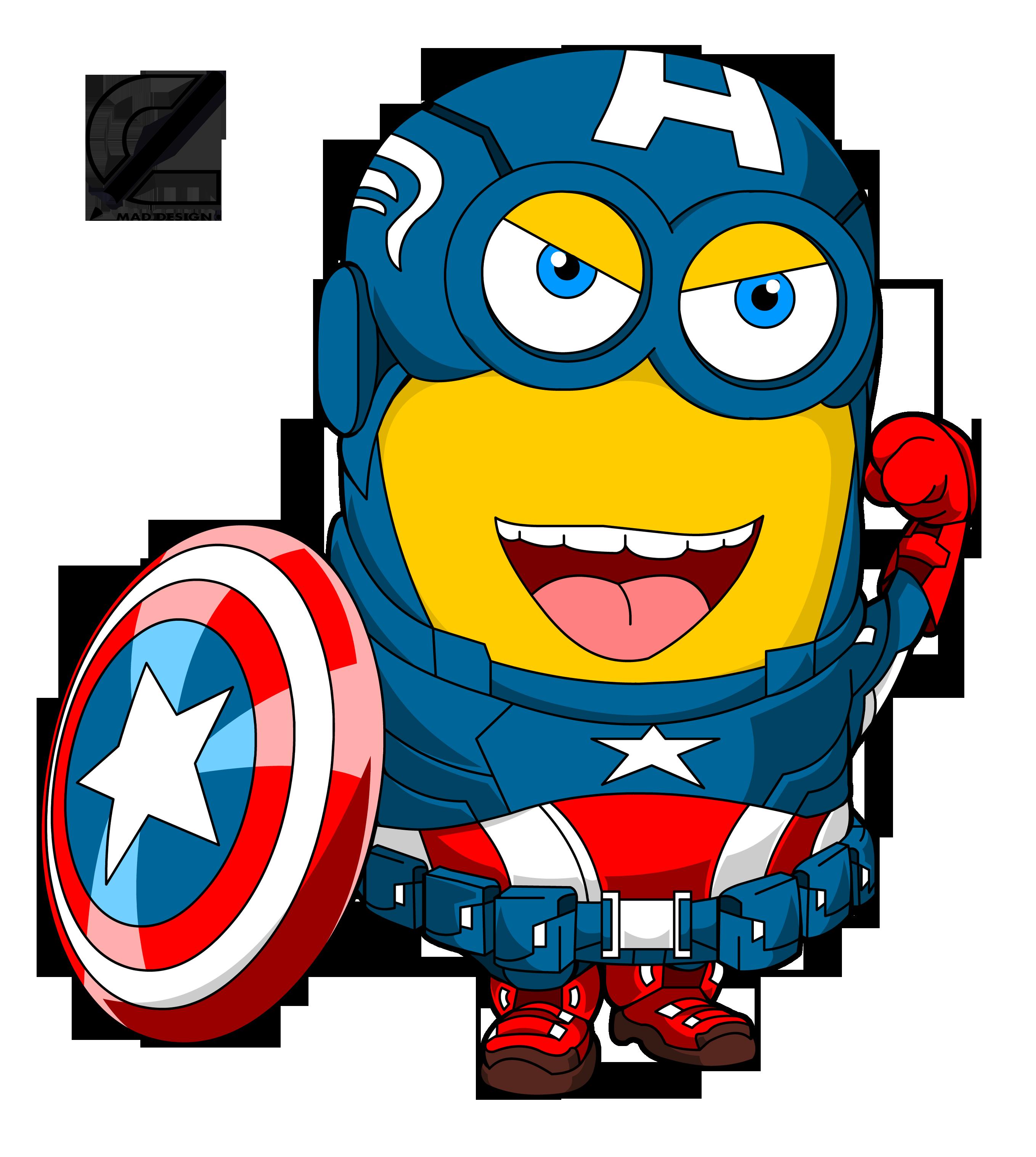 Minions Capitan America