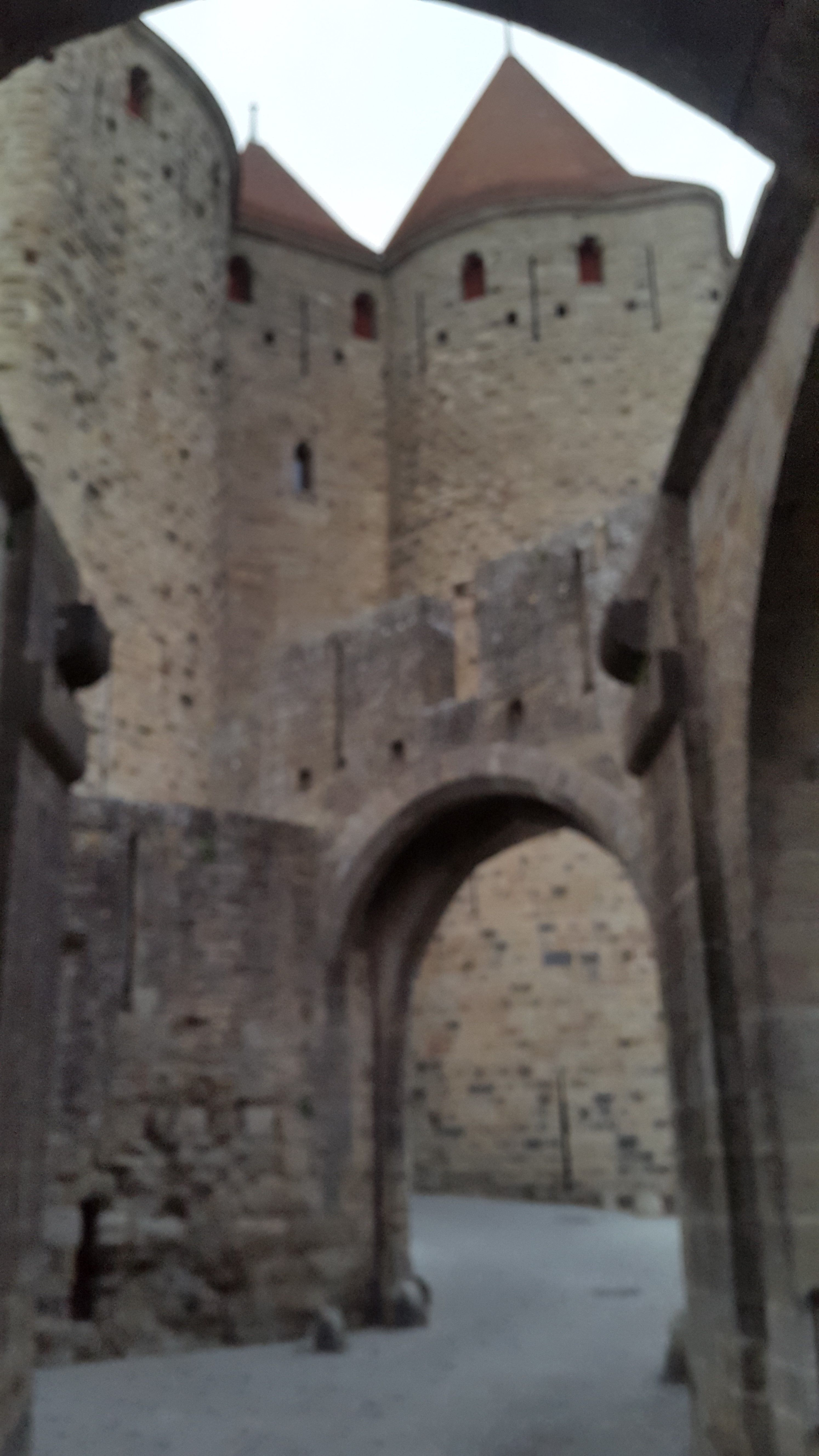 The Artistic Walls Of Carcassonne Ancient Medieval City Medieval