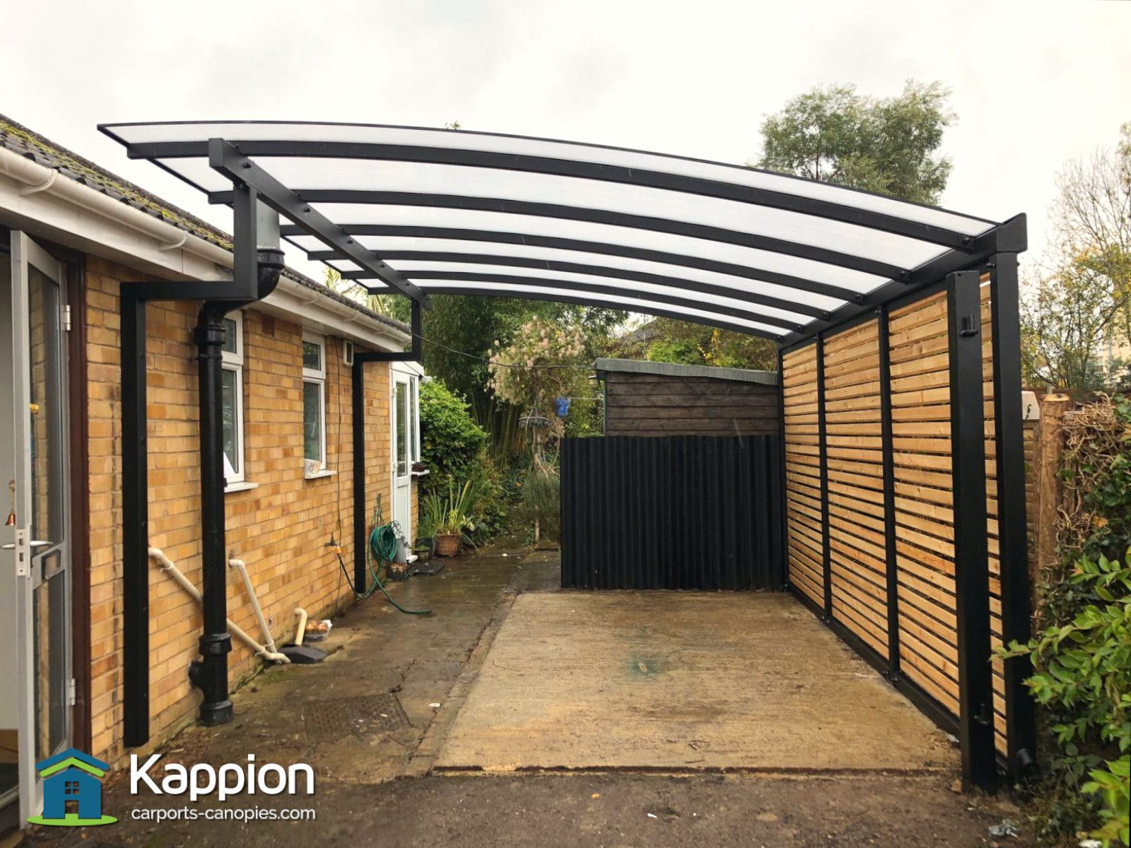 Carport Canopy With Larch Infills Installed In Cheltenham Carport Canopy Carport Canopy