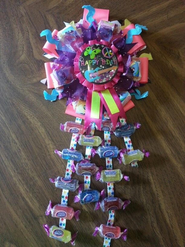 Candy Birthday Corsage Things I Ve Made Pinterest