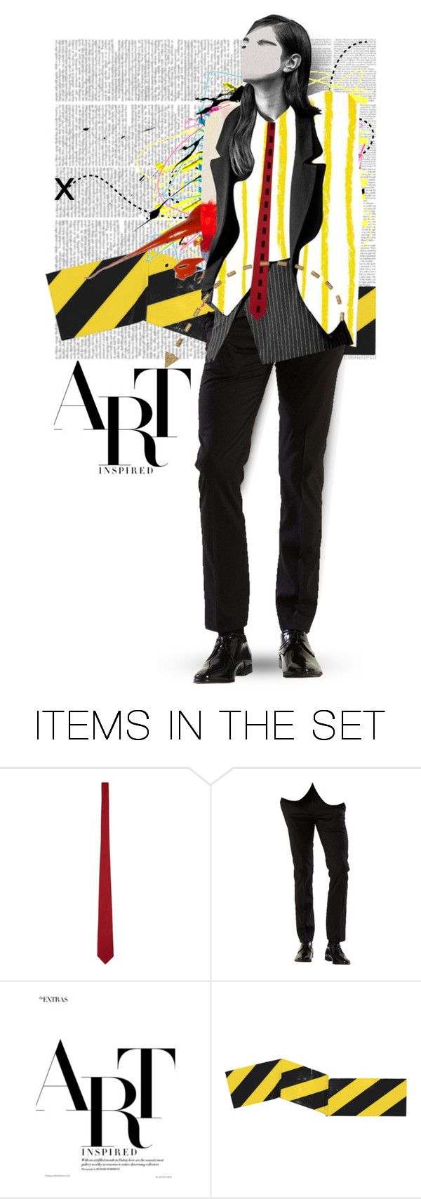 """Abstract Doll"" by mew-muse ❤ liked on Polyvore featuring art"